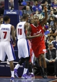 Jan 20, 2014; Auburn Hills, MI, USA; Los Angeles Clippers shooting guard Jamal Crawford (11) points up during the fourth quarter against the Detroit Pistons at The Palace of Auburn Hills. Clippers beat the Pistons 112-103. Mandatory Credit: Raj Mehta-USA TODAY Sports