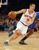 Jan 22, 2014; New York, NY, USA;  New York Knicks point guard Pablo Prigioni (9) drives to the basket during the second half against the Philadelphia 76ers at Madison Square Garden. Philadelphia 76ers defeat the New York Knicks 110-105. Mandatory Credit: Jim O'Connor-USA TODAY Sports