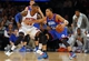 Jan 22, 2014; New York, NY, USA;  New York Knicks shooting guard Iman Shumpert (21) cuts off Philadelphia 76ers small forward Evan Turner (12) from path to the basket at Madison Square Garden. Philadelphia 76ers defeat the New York Knicks 110-105. Mandatory Credit: Jim O'Connor-USA TODAY Sports