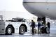 Jan 26, 2014; Newark, NJ, USA; The Denver Broncos plane arrives at Newark Liberty International Airport to face the Seattle Seahawks in Super Bowl XLVIII . Mandatory Credit: Joe Camporeale-USA TODAY Sports