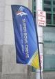 Jan 26, 2014; Jersey City, NJ, USA;  Signage outside the Hyatt Regency hotel. Mandatory Credit: Jim O'Connor-USA TODAY Sports