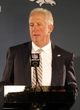 Jan 26, 2014; Jersey City, NJ, USA;  Denver Broncos head coach John Fox addresses the media during press conference at the Cornucopia Majesty Ship. Mandatory Credit: Jim O'Connor-USA TODAY Sports