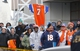 Jan 26, 2014; Jersey City, NJ, USA;  Denver Broncos fans await the arrival of their team at the Hyatt hotel. Mandatory Credit: Jim O'Connor-USA TODAY Sports