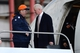 Jan 26, 2014; Newark, NJ, USA; Denver Broncos head coach John Fox arrives at Newark Liberty International Airport to face the Seattle Seahawks in Super Bowl XLVIII. Mandatory Credit: Joe Camporeale-USA TODAY Sports