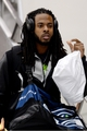 Jan 26, 2014; Newark, NJ, USA; Seattle Seahawks cornerback Richard Sherman arrives at Newark Liberty International Airport to face the Denver Broncos in Super Bowl XLVIII. Mandatory Credit: Joe Camporeale-USA TODAY Sports