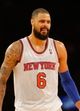 Jan 22, 2014; New York, NY, USA;  New York Knicks center Tyson Chandler (6) at Madison Square Garden. Philadelphia 76ers defeat the New York Knicks 110-105. Mandatory Credit: Jim O'Connor-USA TODAY Sports