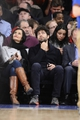 Jan 28, 2014; New York, NY, USA; American actor Adrian Grenier looks during the second half of the game between the New York Knicks and the Boston Celtics at Madison Square Garden. The New York Knicks won the game 114-88. Mandatory Credit: Joe Camporeale-USA TODAY Sports