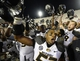 Sep 21, 2013; Bloomington, IN, USA; Missouri Tigers defensive lineman Michael Sam (52) reacts after the game at Memorial Stadium. Missouri defeats Indiana 45-28. Mandatory Credit: Mike DiNovo-USA TODAY Sports