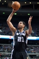 Feb 10, 2014; Auburn Hills, MI, USA; San Antonio Spurs power forward Tim Duncan (21) during the third quarter against the Detroit Pistons at The Palace of Auburn Hills. Pistons won 109-100. Mandatory Credit: Tim Fuller-USA TODAY Sports