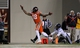 Oct 26, 2013; Blacksburg, VA, USA; Virginia Tech Hokies wide receiver D.J. Coles (18) can't reach a pass against the Duke Blue Devils at Lane Stadium. Mandatory Credit: Peter Casey-USA TODAY Sports