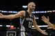 Feb 12, 2014; Orlando, FL, USA; Memphis Grizzlies shooting guard Nick Calathes (12) reacts to the referee against the Orlando Magic during the second half at Amway Center. Memphis Grizzlies defeated the Orlando Magic 86-81. Mandatory Credit: Kim Klement-USA TODAY Sports