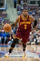 Feb 12, 2014; Auburn Hills, MI, USA; Cleveland Cavaliers point guard Kyrie Irving (2) during the third quarter against the Detroit Pistons at The Palace of Auburn Hills. Cleveland won 93-89. Mandatory Credit: Tim Fuller-USA TODAY Sports