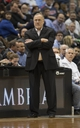 Feb 12, 2014; Minneapolis, MN, USA; Minnesota Timberwolves head coach Rick Adelman looks on during the second half against the Denver Nuggets at Target Center. The Timberwolves won 117-90. Mandatory Credit: Jesse Johnson-USA TODAY Sports
