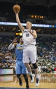 Feb 12, 2014; Minneapolis, MN, USA; Minnesota Timberwolves small forward Chase Budinger (10) goes up for a shot in the second half against the Denver Nuggets at Target Center. The Timberwolves won 117-90. Mandatory Credit: Jesse Johnson-USA TODAY Sports