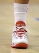 """Feb 12, 2014; Los Angeles, CA, USA; General view of the Nike shoe of Los Angeles Clippers forward Blake Griffin with """"BG32"""" on the tongue during the game against the Portland Trail Blazers at Staples Center. Mandatory Credit: Kirby Lee-USA TODAY Sports"""
