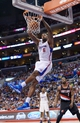 Feb 12, 2014; Los Angeles, CA, USA; Los Angeles Clippers center DeAndre Jordan (6) dunks the ball against the Portland Trail Blazers at Staples Center. The Clippers defeated the Trail Blazers 122-117. Mandatory Credit: Kirby Lee-USA TODAY Sports