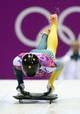 Feb 14, 2014; Krasnaya Polyana, RUSSIA; John Farrow (AUS) competes in men's skeleton during the Sochi 2014 Olympic Winter Games at Sanki Sliding Center. Mandatory Credit: John David Mercer-USA TODAY Sports