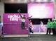 Feb 14, 2014; Krasnaya Polyana, RUSSIA; Noelle Pikus-Pace (USA) celebrates after winning the silver medal in the ladies skeleton during the Sochi 2014 Olympic Winter Games at Sanki Sliding Center. Mandatory Credit: Kevin Jairaj-USA TODAY Sports