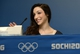 Feb 16, 2014; Sochi, RUSSIA; Meryl Davis (USA) speaks at a press conference after winning the gold medal in the ice dance in the Sochi 2014 Olympic Winter Games. Mandatory Credit: Michael Madrid-USA TODAY Sports