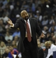 Feb 18, 2014; Memphis, TN, USA; New York Knicks head coach Mike Woodson reacts to call during the second quarter against the Memphis Grizzlies at FedExForum. Mandatory Credit: Justin Ford-USA TODAY Sports