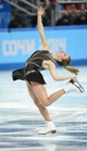 Feb 19, 2014; Sochi, RUSSIA; Ashley Wagner of the USA performs in the ladies short program during the Sochi 2014 Olympic Winter Games at Iceberg Skating Palace.  Mandatory Credit: Robert Deutsch-USA TODAY Sports