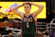 Jan 31, 2014; Orlando, FL, USA; Milwaukee Bucks point guard Nate Wolters (6) reacts against the Orlando Magic during the second half at Amway Center. Orlando Magic defeated the Milwaukee Bucks 113-102.  Mandatory Credit: Kim Klement-USA TODAY Sports