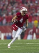 Nov 16, 2013; Madison, WI, USA; Wisconsin Badgers wide receiver Jared Abbrederis (4) during the game against the Indiana Hoosiers at Camp Randall Stadium. Mandatory Credit: Jeff Hanisch-USA TODAY Sports