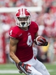 Sep 7, 2013; Madison, WI, USA; Wisconsin Badgers wide receiver Jared Abbrederis (4) during the game against the Tennessee Tech Golden Eagles at Camp Randall Stadium.  Wisconsin won 48-0.  Mandatory Credit: Jeff Hanisch-USA TODAY Sports