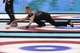 Feb 21, 2014; Sochi, RUSSIA; Brad Jacobs (CAN) in the men's curling gold medal match during the Sochi 2014 Olympic Winter Games at Ice Cube Curling Center. Mandatory Credit: Kyle Terada-USA TODAY Sports