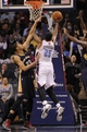 Feb 21, 2014; Charlotte, NC, USA; Charlotte Bobcats center Al Jefferson (25) shoots the ball as New Orleans Pelicans forward center Anthony Davis (23) defends during the second half at Time Warner Cable Arena. The Bobcats won 90-87. Mandatory Credit: Sam Sharpe-USA TODAY Sports