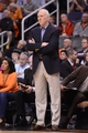Feb 21, 2014; Phoenix, AZ, USA; San Antonio Spurs head coach Gregg Popovich stands on the sidelines in the first half against the Phoenix Suns at US Airways Center. Mandatory Credit: Jennifer Stewart-USA TODAY Sports