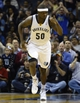 Feb 21, 2014; Memphis, TN, USA; Memphis Grizzlies power forward Zach Randolph (50) celebrates on the court against the Los Angeles Clippers at FedExForum. The Grizzlies won 102 - 96. Mandatory Credit: Justin Ford-USA TODAY Sports
