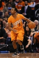 Feb 21, 2014; Phoenix, AZ, USA; Phoenix Suns guard Ish Smith (3) handles the ball against the San Antonio Spurs in the second half at US Airways Center. The Suns defeated the Spurs 106-85. Mandatory Credit: Jennifer Stewart-USA TODAY Sports