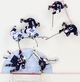 Feb 22, 2014; Sochi, RUSSIA; Finland forward Jussi Jokinen (36) and Finland forward Jori Lehtera (21) reach for the puck while defended by USA defenseman Ryan McDonagh (27) , goalie Jonathan Quick (32) , forward Ryan Kesler (17) , forward Zach Parise (9) and defenseman Brooks Orpik (44) in the men's ice hockey bronze medal game during the Sochi 2014 Olympic Winter Games at Bolshoy Ice Dome. Mandatory Credit: Winslow Townson-USA TODAY Sports