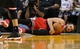 Feb 23, 2014; Miami, FL, USA; Chicago Bulls center Joakim Noah (13) dives for a loose ball in the second half of a game against the Miami Heat at American Airlines Arena.The Heat won 93-79.  Mandatory Credit: Robert Mayer-USA TODAY Sports