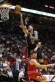 Feb 23, 2014; Miami, FL, USA;  Miami Heat power forward Chris Andersen (11) drives to the basket over Chicago Bulls small forward Mike Dunleavy (34) in the second half at American Airlines Arena.The Heat won 93-79.  Mandatory Credit: Robert Mayer-USA TODAY Sports
