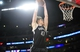 February 23, 2014; Los Angeles, CA, USA; Brooklyn Nets small forward Andrei Kirilenko (47) grabs a rebound against the Los Angeles Lakers during the second half at Staples Center. Mandatory Credit: Gary A. Vasquez-USA TODAY Sports