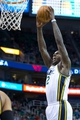 Feb 24, 2014; Salt Lake City, UT, USA; Utah Jazz power forward Marvin Williams (2) dunks the ball during the second half against the Boston Celtics at EnergySolutions Arena. The Jazz won 110-98. Mandatory Credit: Russ Isabella-USA TODAY Sports