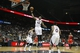 Feb 25, 2014; Atlanta, GA, USA; Atlanta Hawks power forward Elton Brand (42) grabs a rebound against the Chicago Bulls in the first quarter at Philips Arena. Mandatory Credit: Brett Davis-USA TODAY Sports