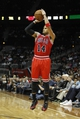 Feb 25, 2014; Atlanta, GA, USA; Chicago Bulls point guard D.J. Augustin (14) shoots the ball against the Atlanta Hawks in the second quarter at Philips Arena. Mandatory Credit: Brett Davis-USA TODAY Sports