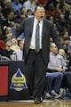 Feb 25, 2014; Atlanta, GA, USA; Chicago Bulls head coach Tom Thibodeau against the Atlanta Hawks in the second quarter at Philips Arena. Mandatory Credit: Brett Davis-USA TODAY Sports