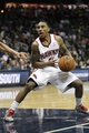 Feb 25, 2014; Atlanta, GA, USA; Atlanta Hawks point guard Jeff Teague (0) drives to the basket against the Chicago Bulls in the fourth quarter at Philips Arena. The Bulls defeated the Hawks 107-103. Mandatory Credit: Brett Davis-USA TODAY Sports