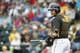 Feb 26, 2014; Bradenton, FL, USA; Pittsburgh Pirates catcher Russell Martin (55) at batt against the New York Yankees during the second inning at McKechnie Field. Mandatory Credit: Kim Klement-USA TODAY Sports