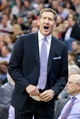 Feb 26, 2014; Salt Lake City, UT, USA; Phoenix Suns head coach Jeff Hornacek reacts during the first half against the Utah Jazz at EnergySolutions Arena. Mandatory Credit: Russ Isabella-USA TODAY Sports