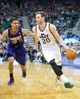 Feb 26, 2014; Salt Lake City, UT, USA; Utah Jazz shooting guard Gordon Hayward (20) dribbles the ball in front of Phoenix Suns shooting guard Gerald Green (14) during the second half at EnergySolutions Arena. The Jazz won 109-86. Mandatory Credit: Russ Isabella-USA TODAY Sports