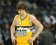 Feb 27, 2014; Denver, CO, USA; Denver Nuggets forward Jan Vesely (24) reacts during the second half against the Brooklyn Nets at Pepsi Center.  The Nets won 112-89.  Mandatory Credit: Chris Humphreys-USA TODAY Sports