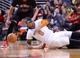 Mar 2, 2014; Chicago, IL, USA; Chicago Bulls small forward Mike Dunleavy (34) dives for a ball against New York Knicks shooting guard J.R. Smith (8) during the second half at the United Center. Chicago defeats New York 109-90. Mandatory Credit: Mike DiNovo-USA TODAY Sports