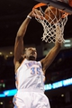 Mar 2, 2014; Oklahoma City, OK, USA; Oklahoma City Thunder small forward Kevin Durant (35) dunks the ball against the Charlotte Bobcats during the fourth quarter at Chesapeake Energy Arena. Mandatory Credit: Mark D. Smith-USA TODAY Sports
