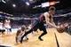 Mar 2, 2014; Phoenix, AZ, USA; Atlanta Hawks shooting guard Kyle Korver (26) is fouled by Phoenix Suns shooting guard Leandro Barbosa (10) in the second half at US Airways Center. The Phoenix Suns won the game 129-120. Mandatory Credit: Joe Camporeale-USA TODAY Sports
