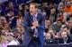 Mar 2, 2014; Phoenix, AZ, USA; Phoenix Suns head coach Jeff Hornacek looks on against the Atlanta Hawks during the second half at US Airways Center. The Phoenix Suns won the game 129-120. Mandatory Credit: Joe Camporeale-USA TODAY Sports